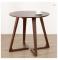 Modern white oak side table living room coffee table