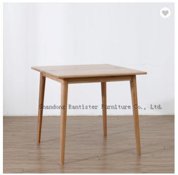 Butterfly square table solid wood furniture Northern Europe creative dining table with a bow tied