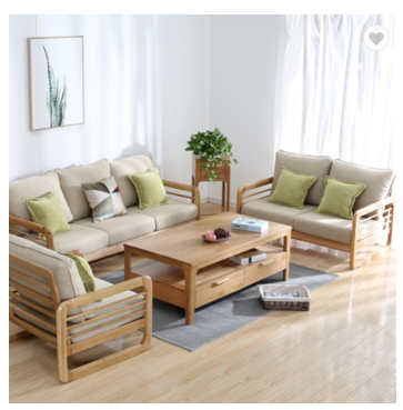 Solid wood furniture Northern Europe modern Schaabe sofa solid wood flexible package living room so