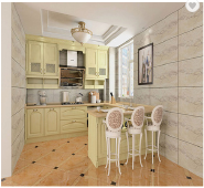 Customized Size Design Kitchen Cabinet from Guangzhou