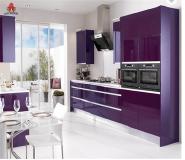 Elegant Purple Color Marble Kitchen Sink Models Acrylic Kitchen Cabinet