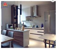 Bomei modern simple cupboard design kitchen plywood kitchen Furniture