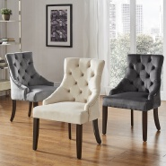 Modern fabric dining room Furniture luxury dining chair