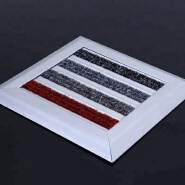 Commercial building space custom size aluminum entrance mat with Belgium carpet strip insert promoti