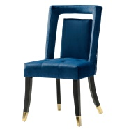 2019 year modern factory dingzhi furniture latest design copper nail velvet hollow dining chair