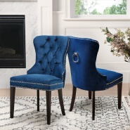 Dingzhi 2019 Abbyson Versailles Blue Tufted Dining Chair