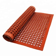 hot anti-fatigue anti-slip honeycomb rubber kitchen mat