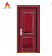 New styles waterproof single leaf steel doors kenya for house wooden color