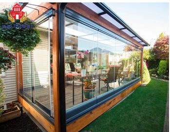 Prefabricated aluminum frame outdoor portable glass house kits garden for sale