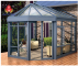 China supplier Waterproof thermal break aluminum tempered glass house