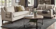 DingZhi Antique Oatmeel Tweed Set Chair Sofa Design