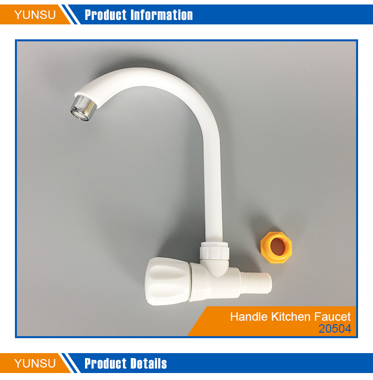 Wall mounted pp abs small plastic tap long handle kitchen easy flow faucet