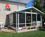 Glass sunroom houses prefabricated aluminum frame garden room