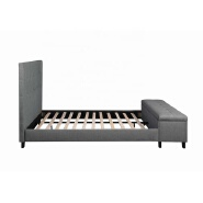 Dingzhi Modern Furniture Upholstered Double Bed Frame With Box