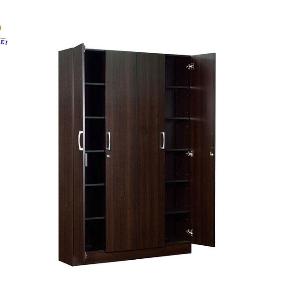 Modern Design Bedroom Furniture Melamine Wooden folding Door Wardrobe