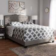 Copper Grove Gilnockie Contemporary Fabric Bed Fabric Upholstered Platform Bed