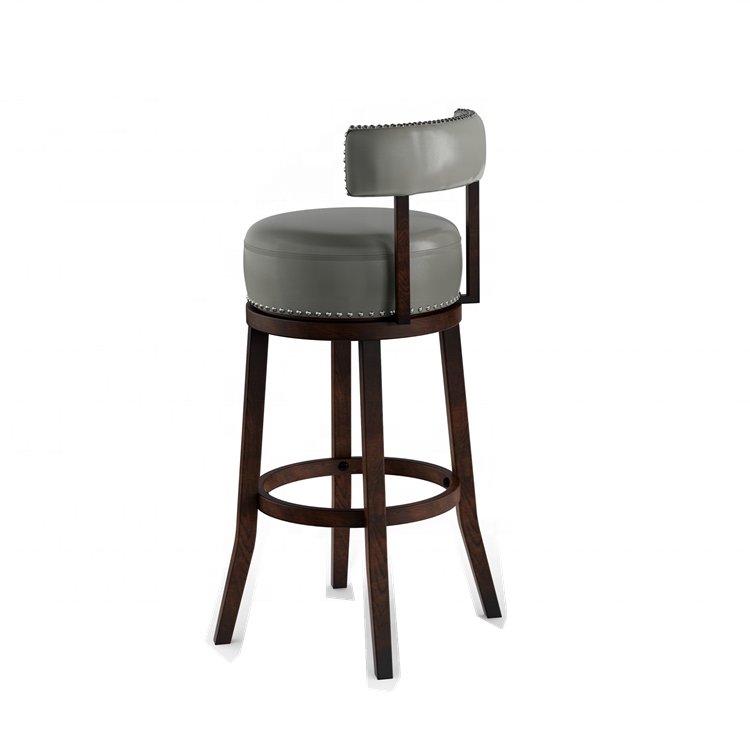 Dongguan Dingzhi copper nail decorated 360 degree rotating bar high chair