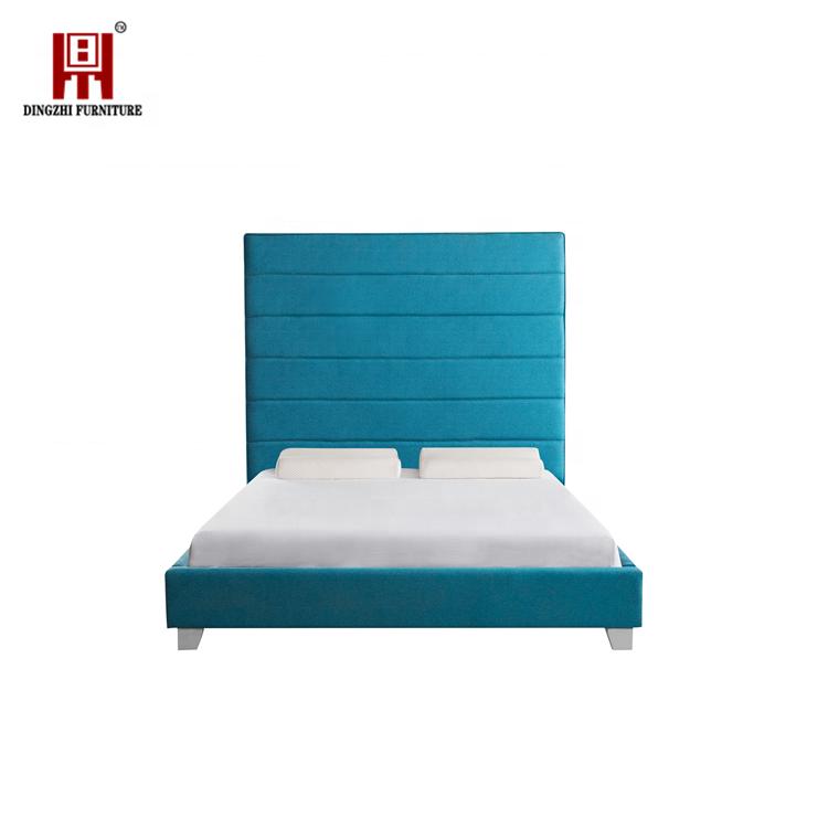 Luxury Modern Bed Living Room Furniture Full Size for Children Tufted Velvet Bed