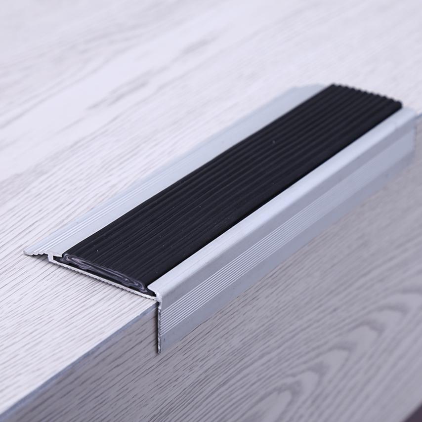 Aluminum with PVC strip stair nosing for vinyl floor