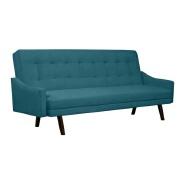Lofoten Turquoise Blue Velvet Futon Sleeper Sofa