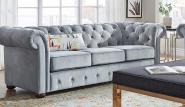 DingZhi European Antique Tufted Arm Chesterfield Sofa