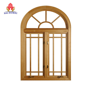 European Style Aluminum sliding Window with top arch