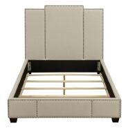 Latest california king Size Velvet Bed Upholstered Headboard Design