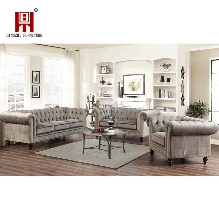 American Wholesale Modern Arabic Classic Velvet Fabric Corner Sofa Set for Living Room