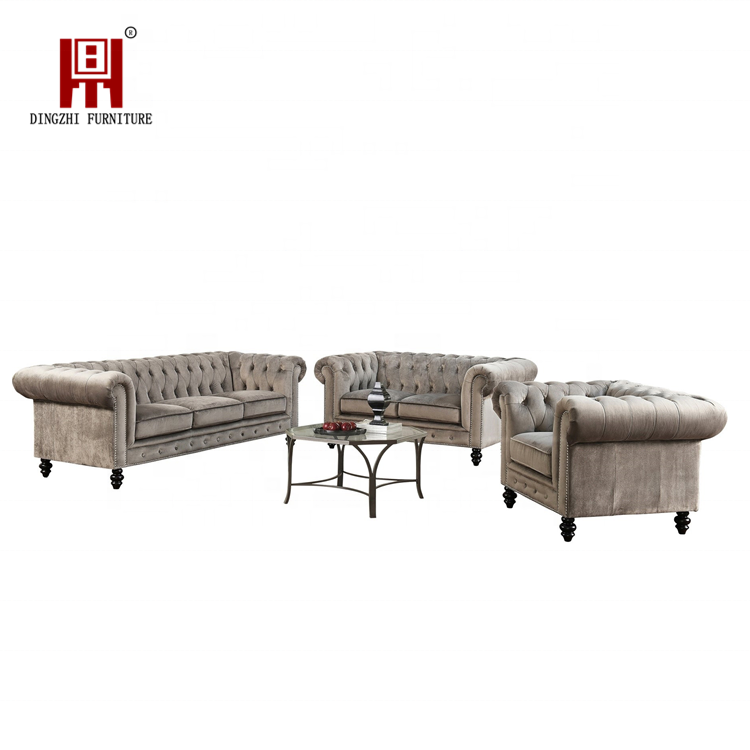 Wholesale Modern Arabic Classic Velvet Fabric Corner Sofa Set for Living Room