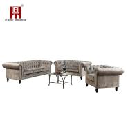 Wholesale Modern Arabic Classic Velvet Fabric Corner Sofa Set for Living Room