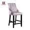 Abbyson Versailles Nail Trim Tufted Velvet With Ring Pull Chair Back Barstool Chair
