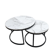 modern style cheap round marble coffee table
