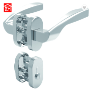 High Quality aluminum alloy double sided Door Lock set with Girp Handle