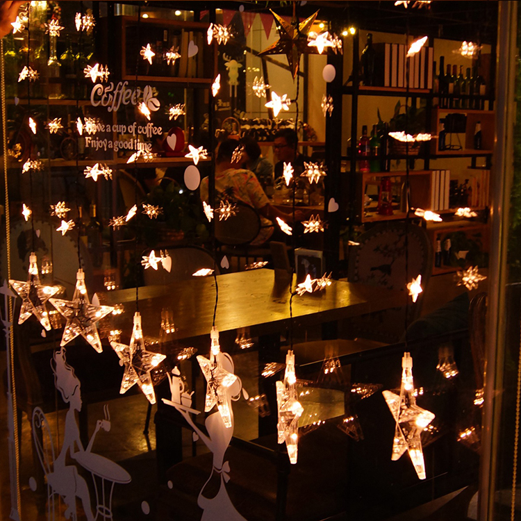 2018 Popular Wholesale Festival Star String Light For Home Decoration