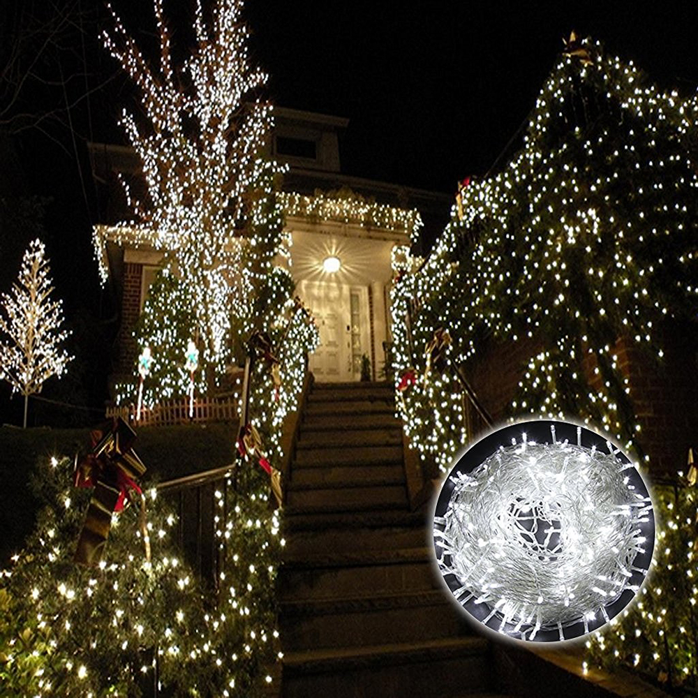 LED christmas light of warm white 100m 500leds non led christmas lights light string outdoor IP65 w