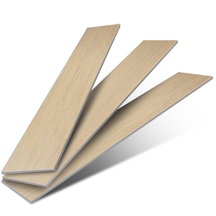 Non-slip Wooden Glazed Ceramic Floor Tiles