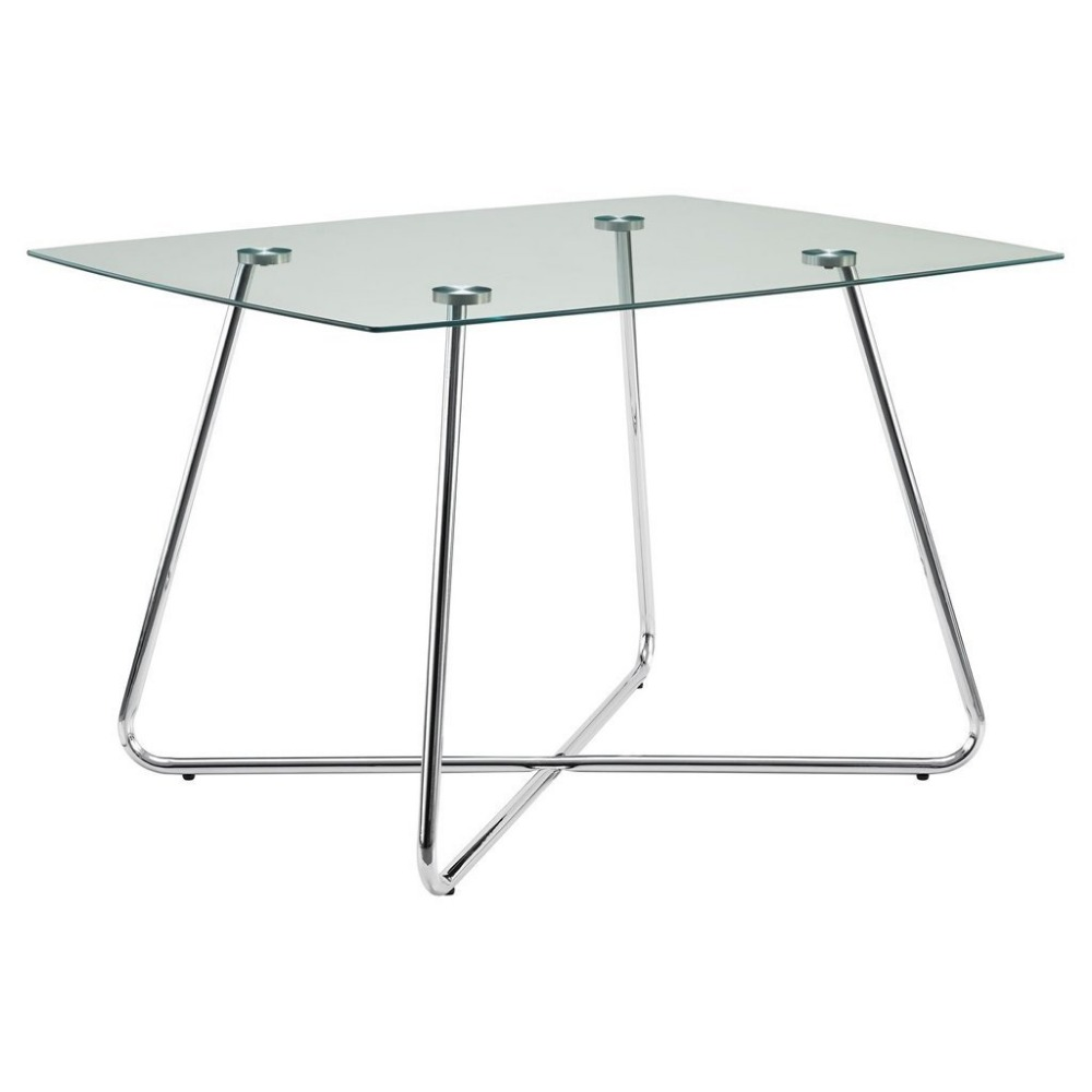 modern metal dining table and chairs set