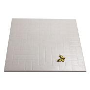 3D Rustic Matte Surface White And Black Floor Tile 60x60