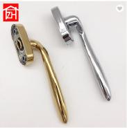 ZS-69105 chrome color multi points window lock handle, titanium locking handle for aluminum casement
