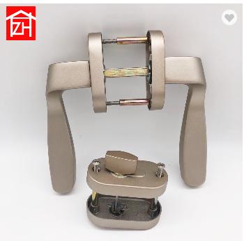 ZC-3104 aluminum alloy flat tiolet door lock tempered c