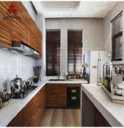 Modular Pantry Cupboard UV Sheet MDF board Kitchen Cabinet