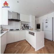 Bright white metal modular kitchen cabinets turkey