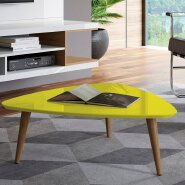 Modern stainless steel metal center coffee table with glass top