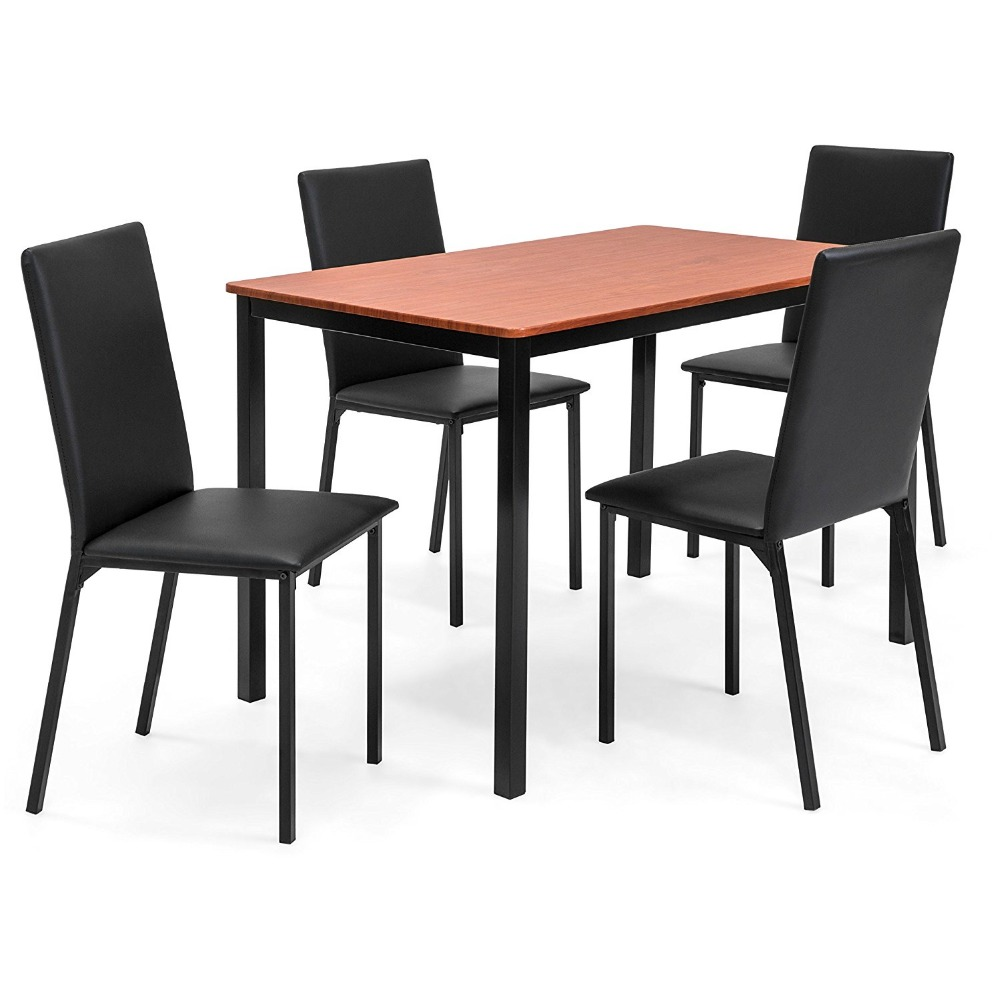 wooden dining table and chairs set modern