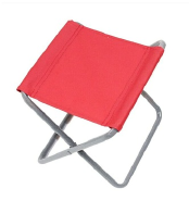 Modern flexible fabric covered folding chair
