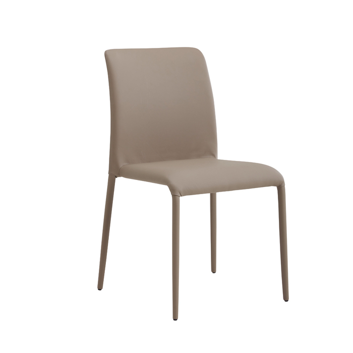 Leather cover metal legs dining room chair
