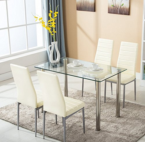luxury tempered glass dining table modern