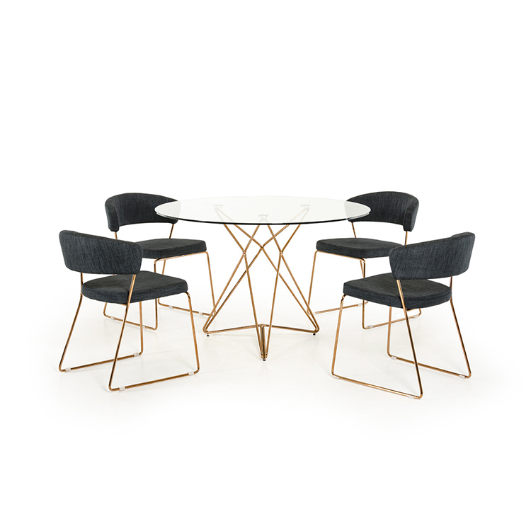 modern glass dining table set 4 chairs