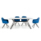 modern glass dining table set 6 chairs