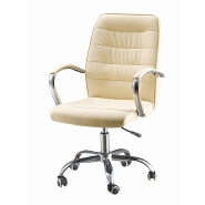 2017 New design top quality grey leather revolving office chair